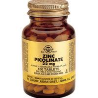 Solgar Zinc Picolinate 22mg healthy skin, hair & nails. Embrace Life